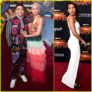 'Sabrina's Tati Gabrielle Wears The Alphabet On Her Dress at 'Captain Marvel' Premiere