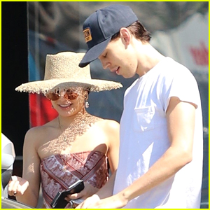 Vanessa Hudgens Rocks Bandana Top While Out With Austin Butler