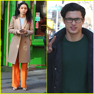 Yara Shahidi & Charles Melton Return To NYC For 'Sun Is Also a Star' Re-Shoots