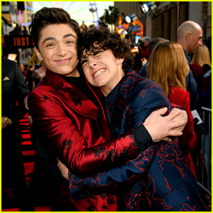Asher Angel & Jack Dylan Grazer Hug It Out at 'Shazam!' Premiere in Hollywood!