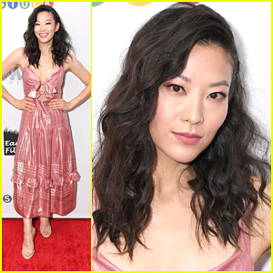 Arden Cho Shines in Pretty Pink Dress at 'Stuck' Premiere in New York City