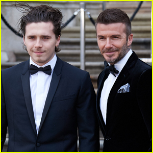 Brooklyn Beckham Joins Dad David at 'Our Planet' Premiere in London!