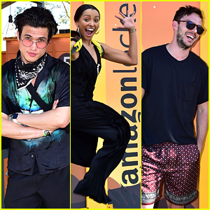 Charles Melton, Kat Graham, & Nicholas Hoult Gear Up for Coachella With Amazon