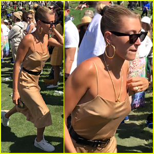 Hailey Bieber Hangs With Kendall & Kylie Jenner at Kanye West's 'Sunday Service' Coachella Set