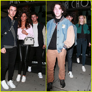 The Jonas Brothers Join Danielle Jonas & Sophie Turner for Dinner at Mr. Chow