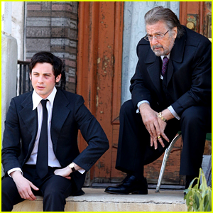 Logan Lerman Films New Amazon Series with a Bruised Face