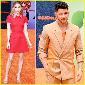 Nick Jonas & Emma Roberts Team Up for 'UglyDolls' World Premiere!