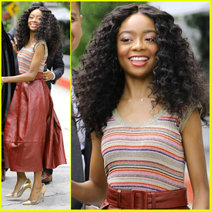 Skai Jackson Steps Out in Style For TommyxZendaya Collection Brunch