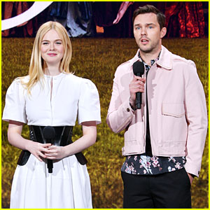 Elle Fanning & Nicholas Hoult Present 'The Great' at Hulu Upfronts