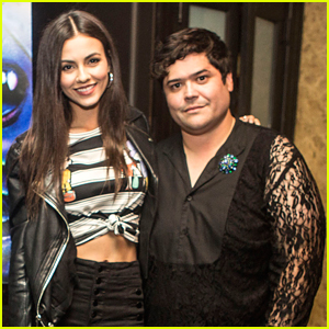 Harvey Guillen & Victoria Justice Hang Out at the 'What We Do in the Shadows' Finale Party