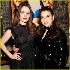 Kaitlyn Dever & Beanie Feldstein Dress In All Black at 'Booksmart' NYC Screening
