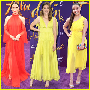 The Bold Type's Katie Stevens & Meghann Fahy Look Like They Stepped Out of Scarlet's Fashion Closet at 'Aladdin' Premiere