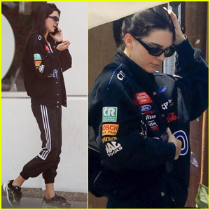 Kendall Jenner Meets Up with a Friend for Lunch in WeHo