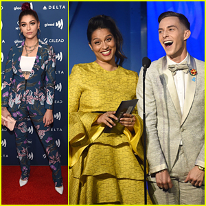 Lilly Singh & Andrea Russett Step Out in Style For GLAAD Media Awards 2019 in NYC
