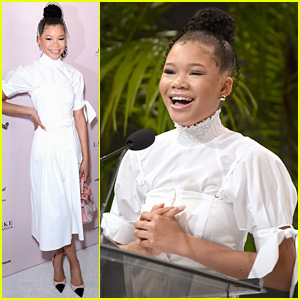 Storm Reid Accepts Women of Excellence Award at LadyLike Foundation Luncheon