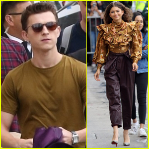 Tom Holland & Zendaya Promote 'Spider-Man: Far From Home' in Hollywood!