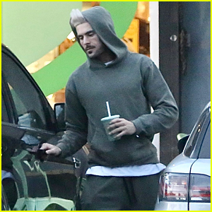 Zac Efron Picks Up a Smoothie While Out & About in LA