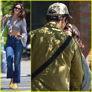 Camila Mendes & Charles Melton Share Sweet Kisses in New York City