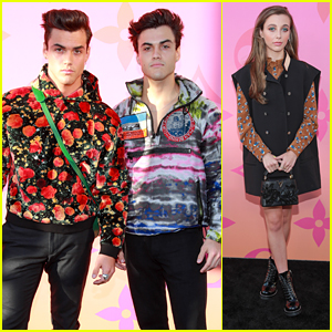 Grayson & Ethan Dolan Step Out For 'Louis Vuitton X' Fashion Event with Emma Chamberlain
