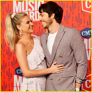 Kelsea Ballerini & Husband Morgan Evans Look Smitten at CMT Music Awards 2019