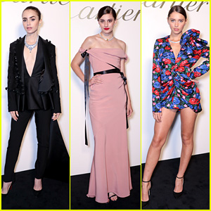Lily Collins Stuns at Cartier's Magnitude Gala Dinner in London