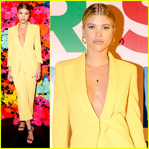 Sofia Richie Steps Out in Bright Yellow Suit For Alice + Olivia's PRIDE Party