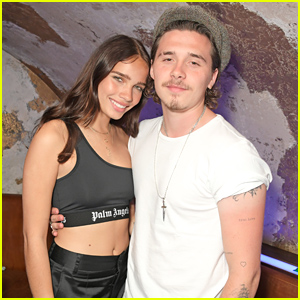 Brooklyn Beckham & Hana Cross Couple Up For Moschino's Pride in London Party