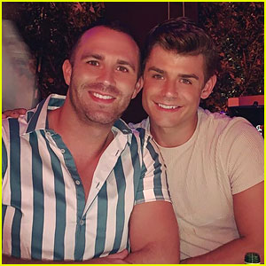 Garrett Clayton Goes Shirtless on Vacation With Fiance Blake Knight