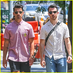 2/3 of the Jonas Brothers Are Burnin Up in NYC Heat Wave!