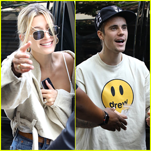 Hailey & Justin Bieber Grab Lunch at Il Pastaio Ahead of Fourth of July Holiday