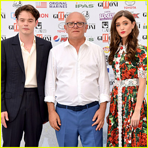 Natalia Dyer Is a Floral Beauty at Giffoni Film Festival 2019 with Charlie Heaton
