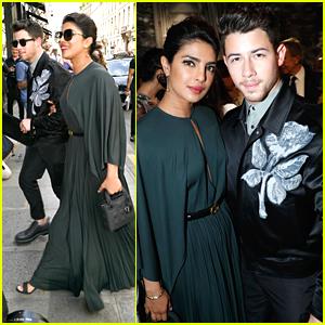 Nick Jonas Arrives For Christian Dior Haute Couture Fashion Show with Wife Priyanka Chopra