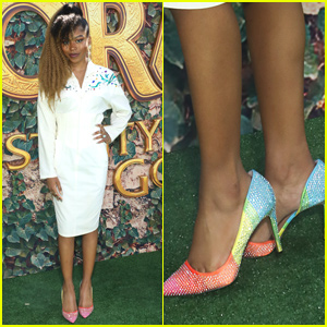 Riele Downs Rocks Rainbow Heels For 'Dora & The Lost City of Gold' Premiere in LA