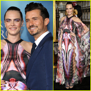 Cara Delevingne Joins Orlando Bloom at the 'Carnival Row' Premiere
