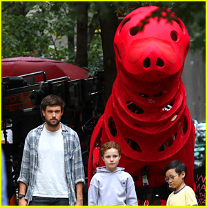 Darby Camp Films 'Clifford' Movie in New York City!