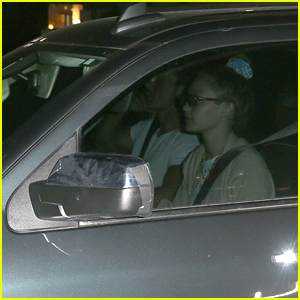 Gigi Hadid Drives Around Town with Tyler Cameron in the Passenger Seat