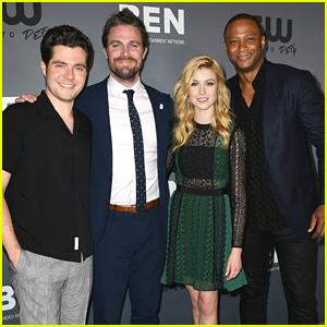 Katherine McNamara Makes It An 'Arrow' Family Affair at CW's Summer TCA Party