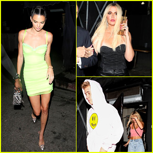Hailey & Justin Bieber Enjoy a Fun Night Out with Kendall Jenner & More!