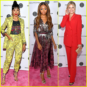 Liza Koshy, Skai Jackson & Witney Carson Show Off Their Gorgeous Beauty Looks at BeautyCon LA