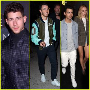 The Jonas Brothers, Sophie Turner & Priyanka Chopra Join Nick Jonas at His Launch Party!