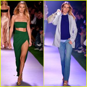 Bella Hadid Rocks Two Looks for Brandon Maxwell Fashion Show