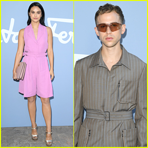 Camila Mendes & Tommy Dorfman Jump For Joy At Milan Fashion Week