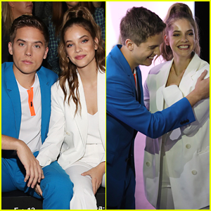 Dylan Sprouse & Barbara Palvin Reunite at Boss Fashion Show