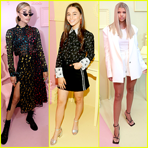 Eva Gutowski, Sky Katz, Sofia Richie & More Step Out For 'Alice & Olivia' Presentation During NYFW
