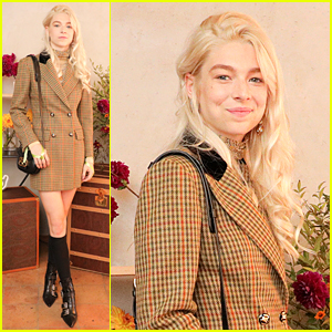 Hunter Schafer Celebrates New Etro Bag At NYFW Luncheon