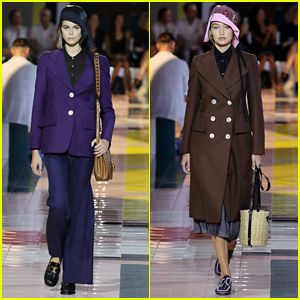 Kaia Gerber & Gigi Hadid Wear Hats On The Runway For The Prada Show in Milan