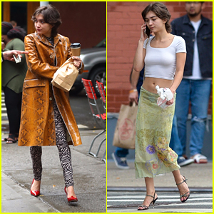 Rowan Blanchard Makes Coffee Run in Chic Look in NYC