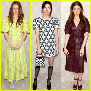 Sadie Sink, Emma Roberts, & Anna Kendrick Look Chic at Kate Spade's NYFW Show