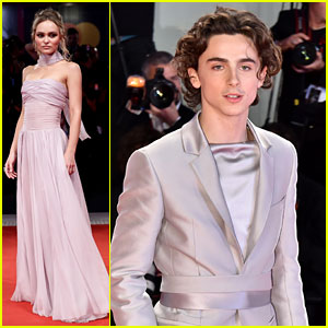 Lily-Rose Depp Dazzles in Chanel Alongside Timothee Chalamet at 'The King' Venice Premiere