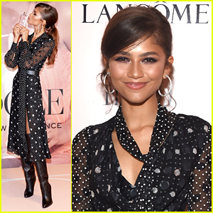 Zendaya Celebrates Lancome's Idole Fragrance at Launch Event in NYC